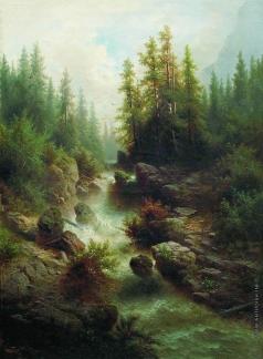 Мещерский А. И. Горный ручей