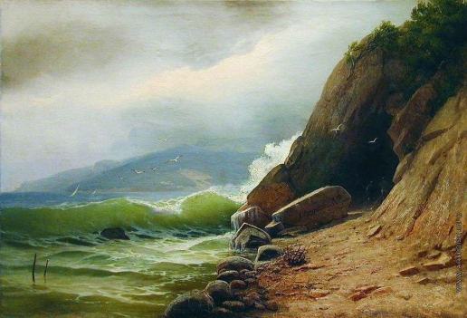 Мещерский А. И. Грот на берегу моря