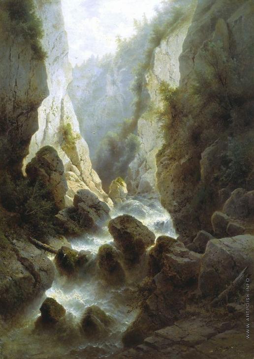Мещерский А. И. Дарьяльское ущелье