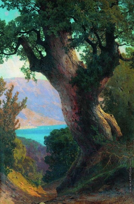 Мещерский А. И. Дерево над обрывом