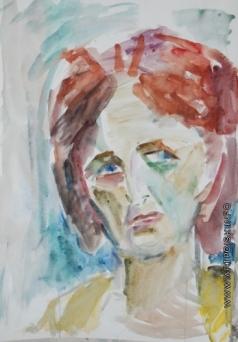 Абакумцев Н. И. Попртрет Инны Марьяновской