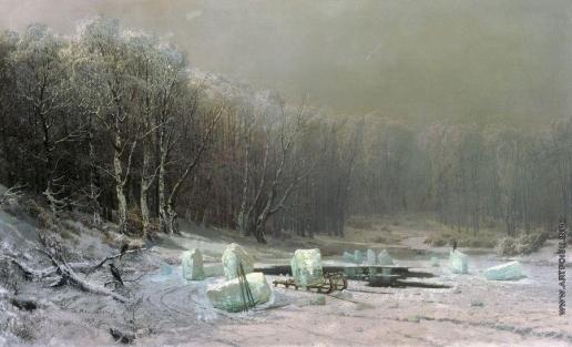 Мещерский А. И. Зима. Ледокол