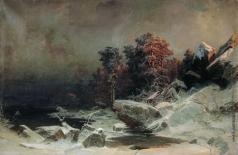 Мещерский А. И. Зимний вечер в Финляндии
