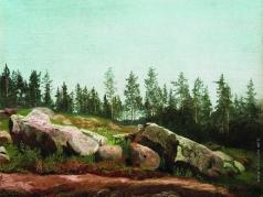 Мещерский А. И. Лесной пейзаж с валунами