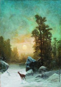 Мещерский А. И. Лунная ночь. Тишина