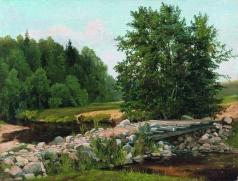 Мещерский А. И. Мостик через речку. Летний день