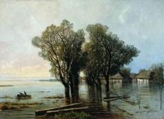 Мещерский А. И. Наводнение в деревне