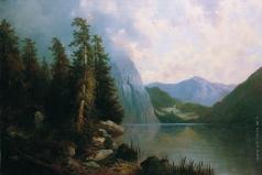 Мещерский А. И. Озеро в горах