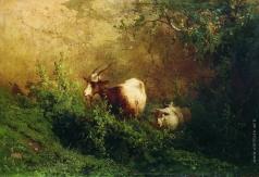 Мещерский А. И. Пейзаж с козами