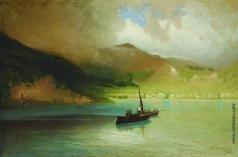 Мещерский А. И. Пейзаж с рыбацкими лодками