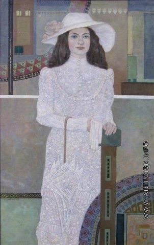 Абезгауз Е. З. Портрет девушки в белом