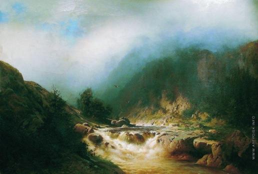 Мещерский А. И. Река в горах Швейцарии