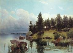 Мещерский А. И. У лесного озера