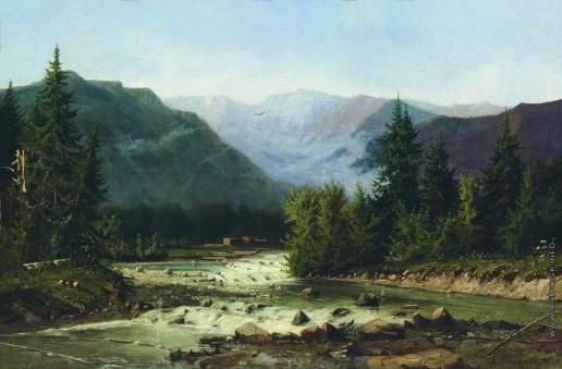 Мещерский А. И. Швейцарский пейзаж