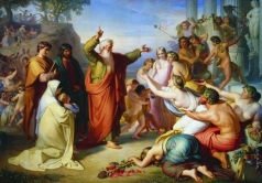 Моллер Ф. А. Апостол Иоанн Богослов, проповедующий на острове Патмос во время вакханалий