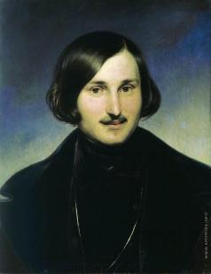Моллер Ф. А. Портрет писателя Николая Васильевича Гоголя
