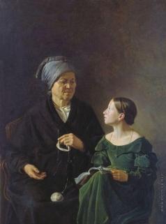 Мохов М. А. Бабушка и внучка
