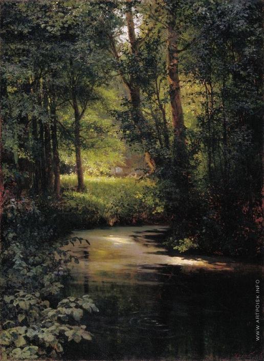 Мясоедов Г. Г. Весной (Лесной ручей близ Полтавы)