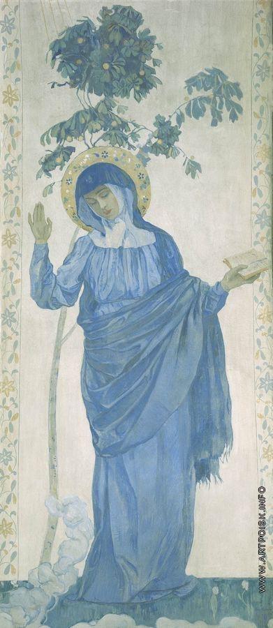 Нестеров М. В. Благовещение. Дева Мария. 1910-