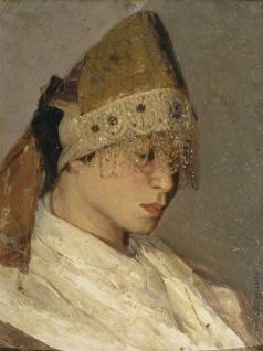 Нестеров М. В. Девушка в кокошнике. Портрет М.И.Нестеровой