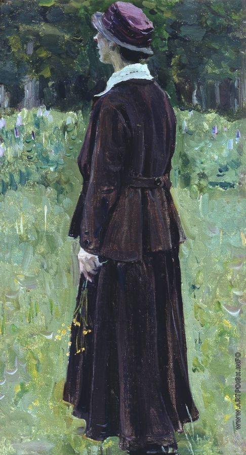 Нестеров М. В. Женскии портрет. 1990-