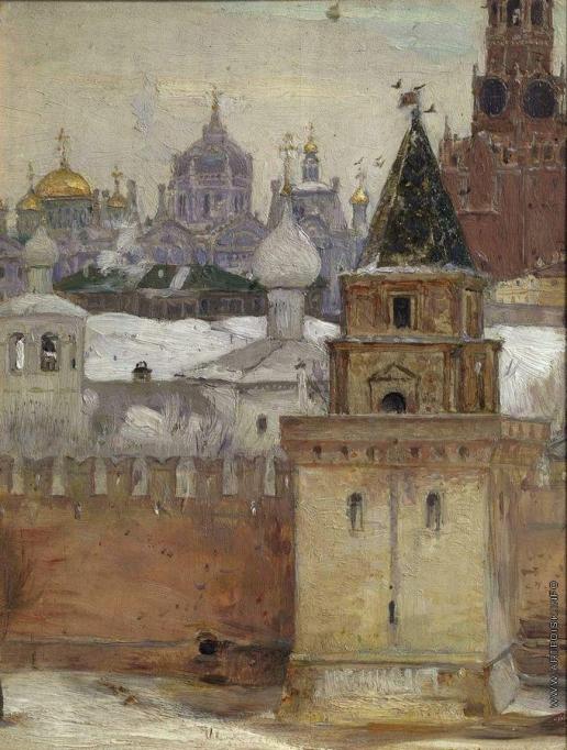 Нестеров М. В. Кремль зимой