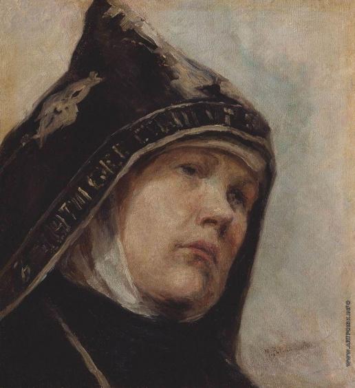 Нестеров М. В. Монахиня. 1897-