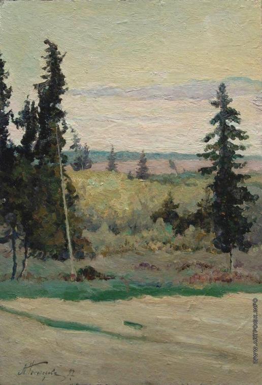 Нестеров М. В. Пейзаж с елками