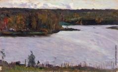 Нестеров М. В. Пейзаж с рекой