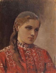 Нестеров М. В. Портрет Марии Высоцкой