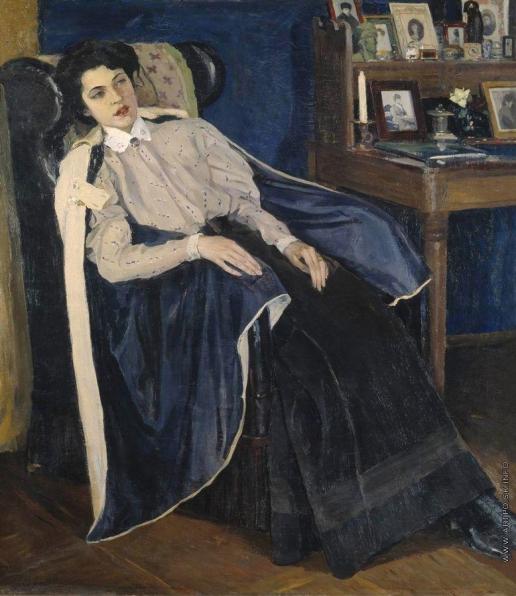 Нестеров М. В. Портрет О.М.Нестеровой, дочери художника