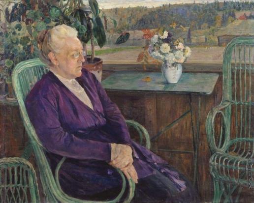 Нестеров М. В. Портрет С.И.Тютчевой. 1927-