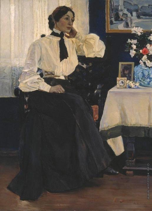Нестеров М. В. Портрет жены, Е.П.Нестеровой