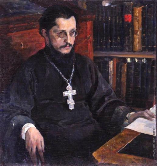 Нестеров М. В. Портрет неизвестного священника (С.Н.Дурылин)