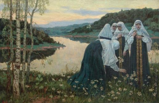 Нестеров М. В. Послушницы на берегу реки