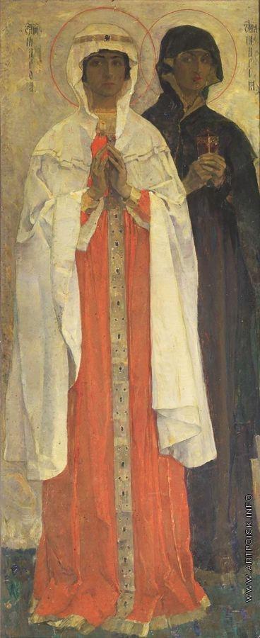 Нестеров М. В. Праведная Марфа и праведная Мария
