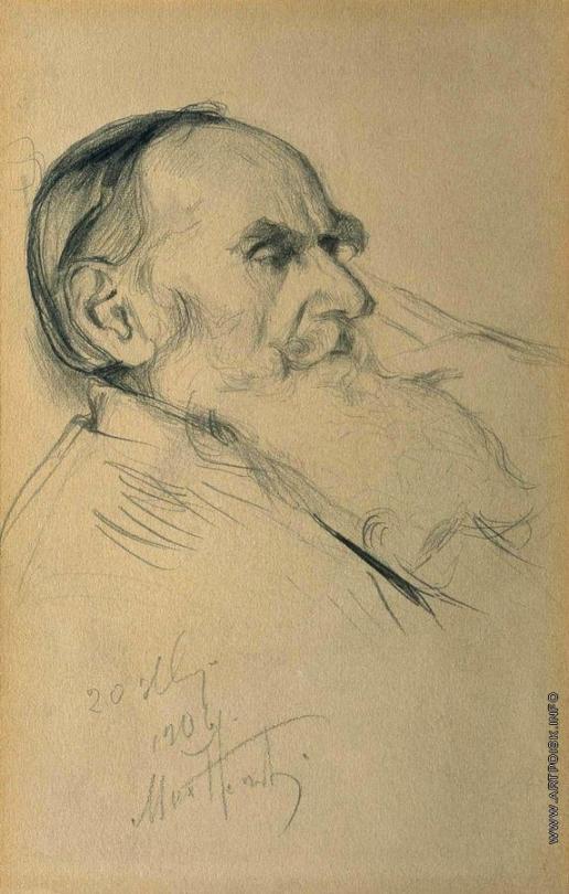 Нестеров М. В. Рисунок к портрету Л.Н.Толстого