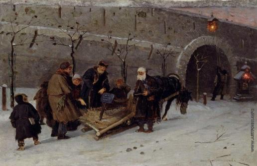Нестеров М. В. Сбор на погорелый храм в Москве