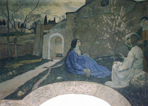 Нестеров М. В. Христос у Марфы и Марии. 1908-