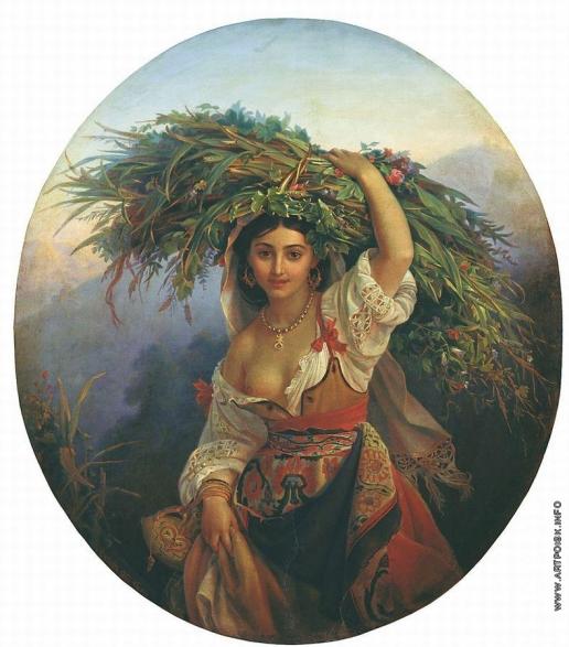 Орлов П. Н. Итальянка с цветами