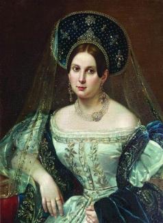Орлов П. Н. Портрет неизвестной в придворном русском платье. Около