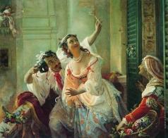 Орлов П. Н. Сцена из римского карнавала