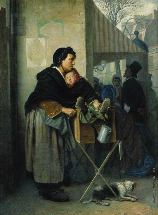 Перов В. Г. Парижская шарманщица