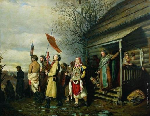 Перов В. Г. Сельский крестный ход на Пасхе