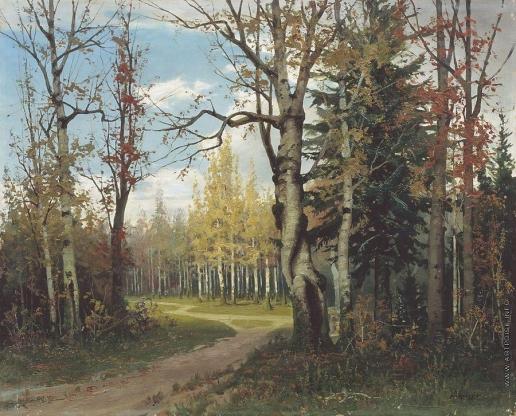 Писемский А. А. Дорога в лесу. Не позднее