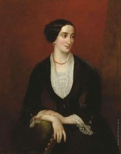 Плюшар Е. А. Женский портрет