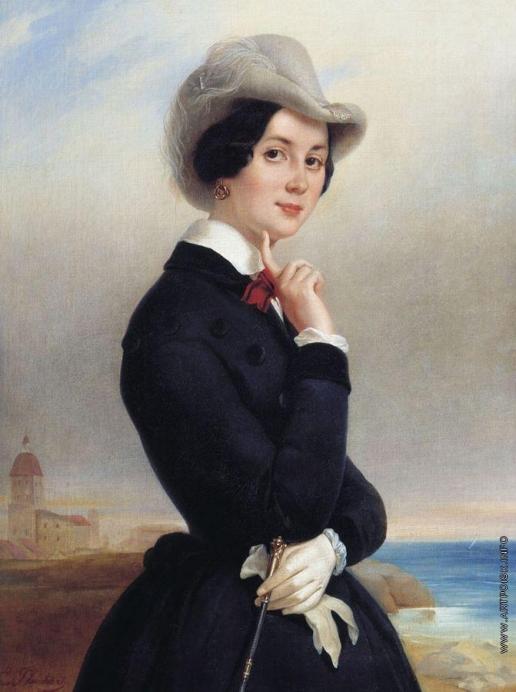 Плюшар Е. А. Портрет В.В. Самойловой (?)