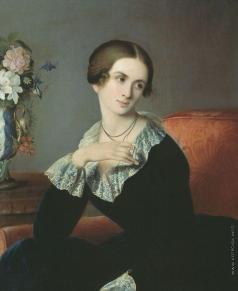 Плюшар Е. А. Портрет неизвестной