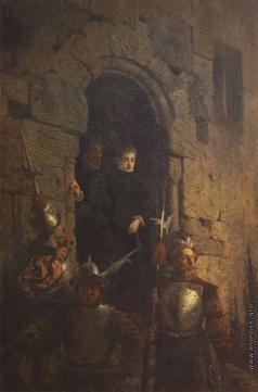 Поленов В. Д. Арест гугенотки Жакобин де Монтебель, графини д'Этремон
