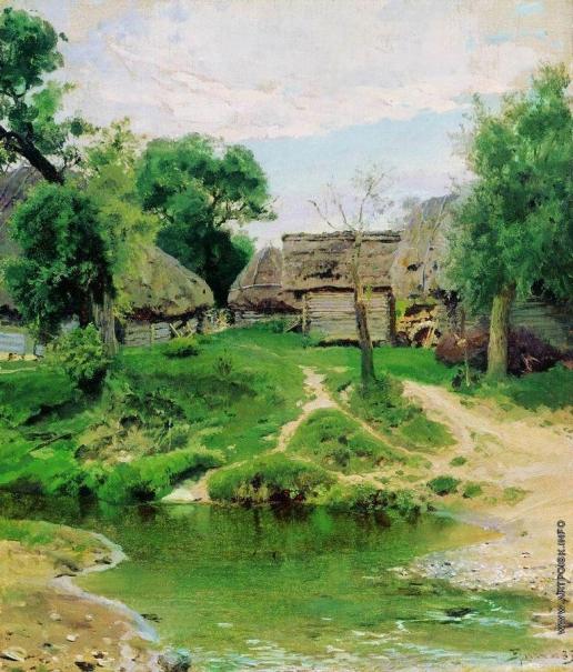 Поленов В. Д. Деревня Тургенево